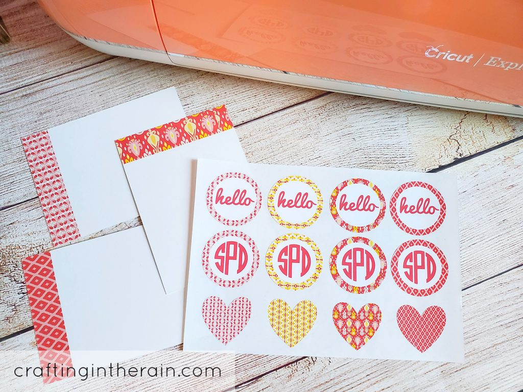 Stationery set with Cricut
