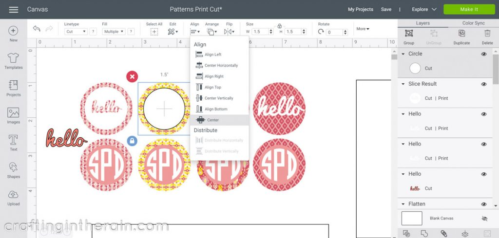 Use fill pattern to make stickers