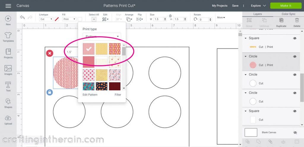 Fill pattern in Design Space