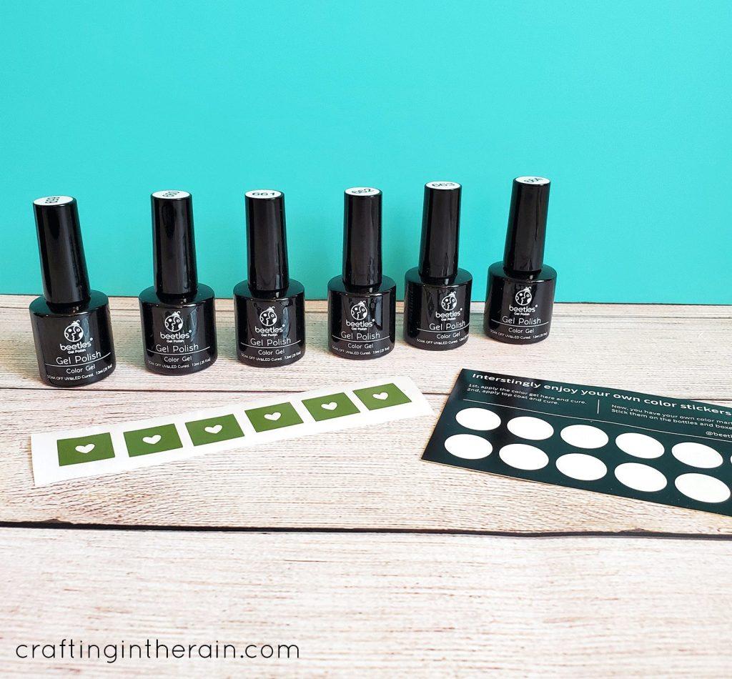 how to organize gel polish