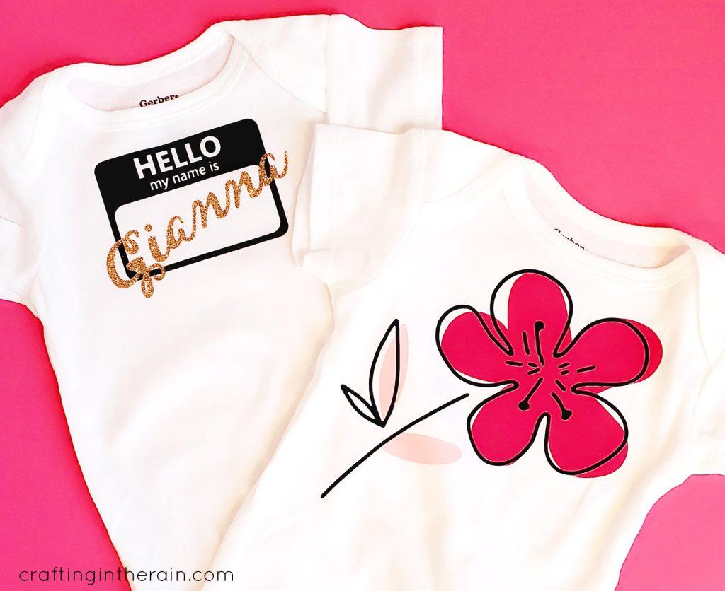 Layered vinyl onesie