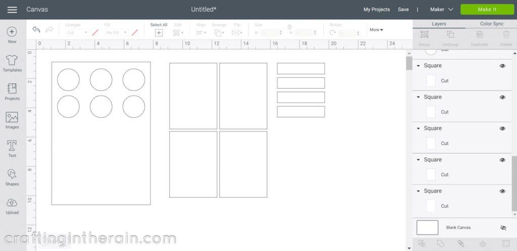 White rectangle Design Space