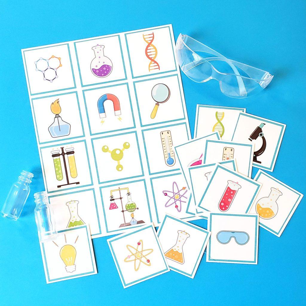 Science lab matching game