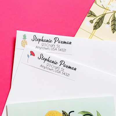 Address Labels with Cricut