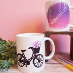 DIY bicycle submlimation mug
