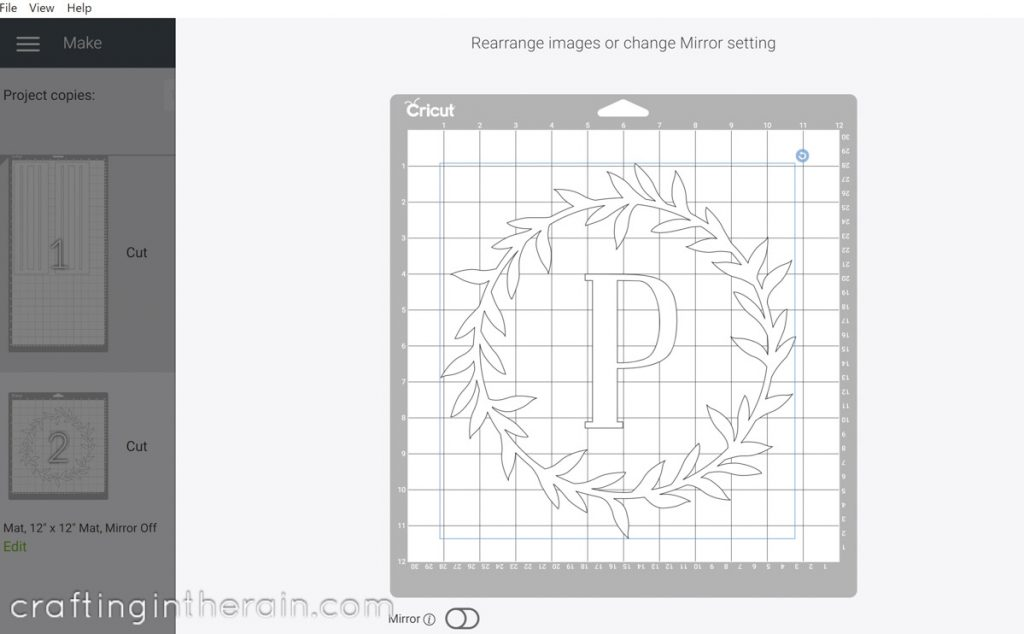 Move items on Cricut mat