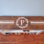 Cricut Stencil Vinyl Shoe Bench