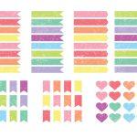 Grunge Planner Stickers
