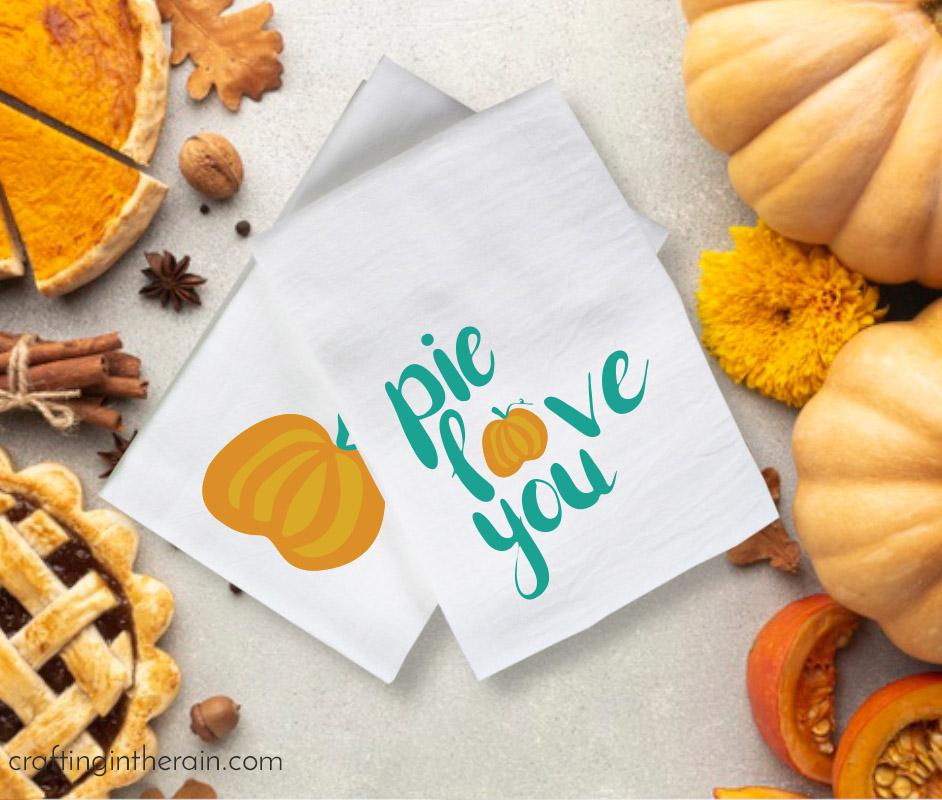 pie love you svg