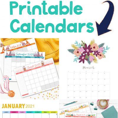 Free Printable 2021 Calendars