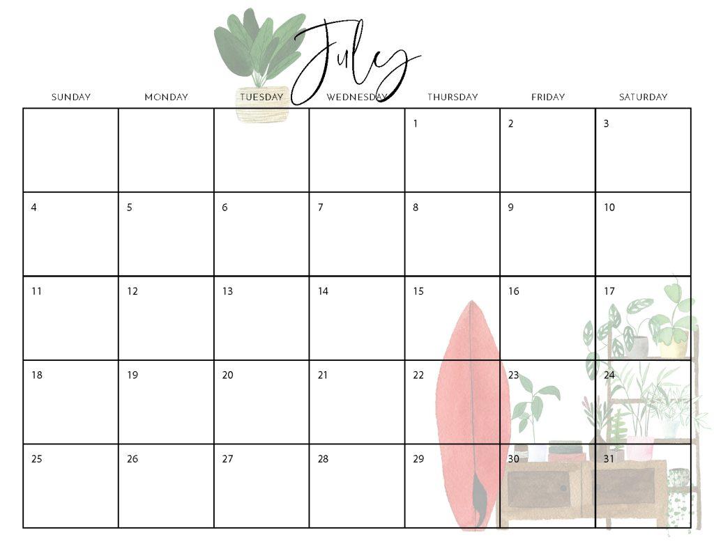2021 Free Boho Calendar - Crafting in the Rain