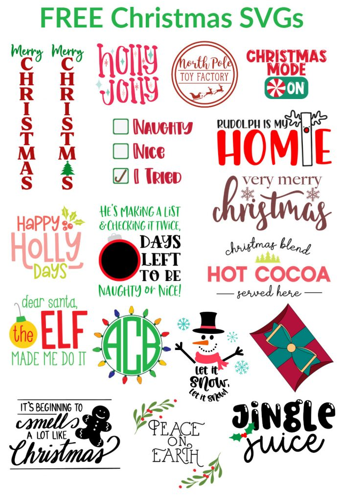 christmas svgs for cricut