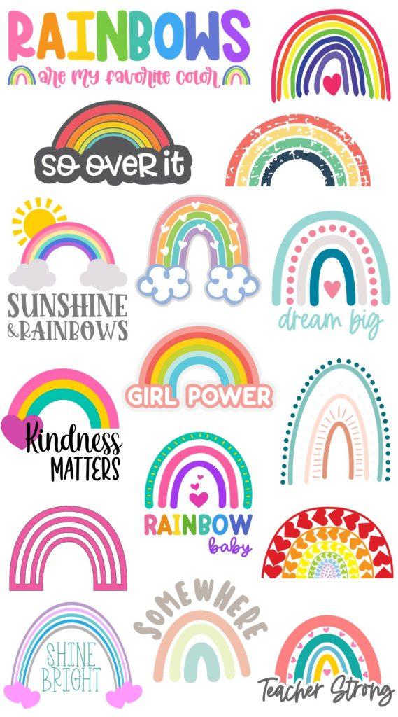 free rainbow svgs
