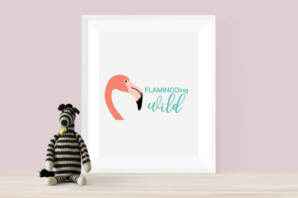 flamingoing wild poster