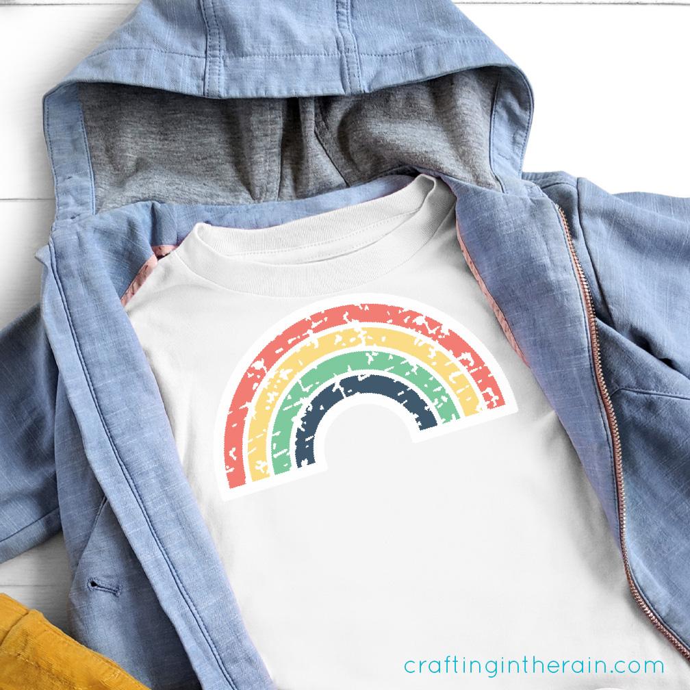 grunge rainbow svg