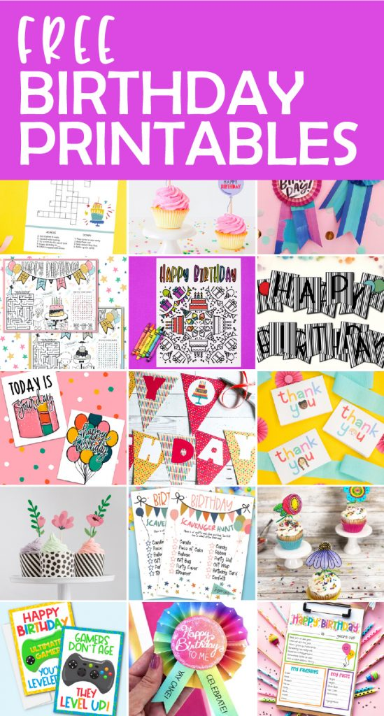 Download any or all of these free birthday printables to make your next celebration even more fun. I created a birthday crossword printable.