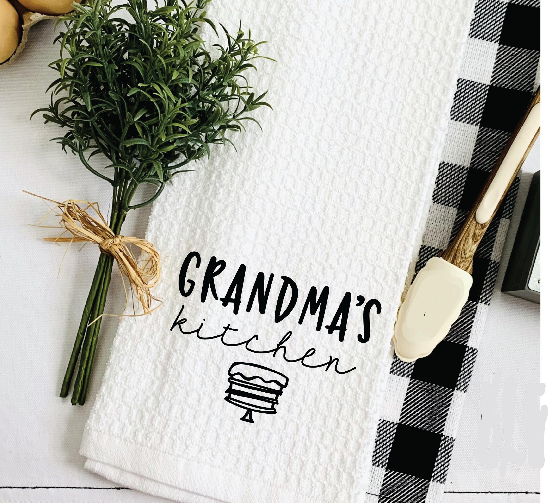kitchen towel grandmas kitchen