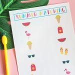 Printable Summer Matching