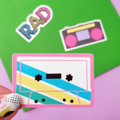 Printable 80's Stickers