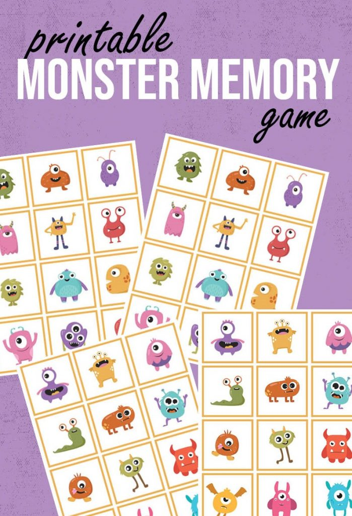 monster memory game