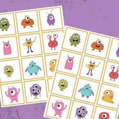 Printable Monster Memory Game
