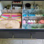Bathroom Drawer Organizer with Duck Brand Liner