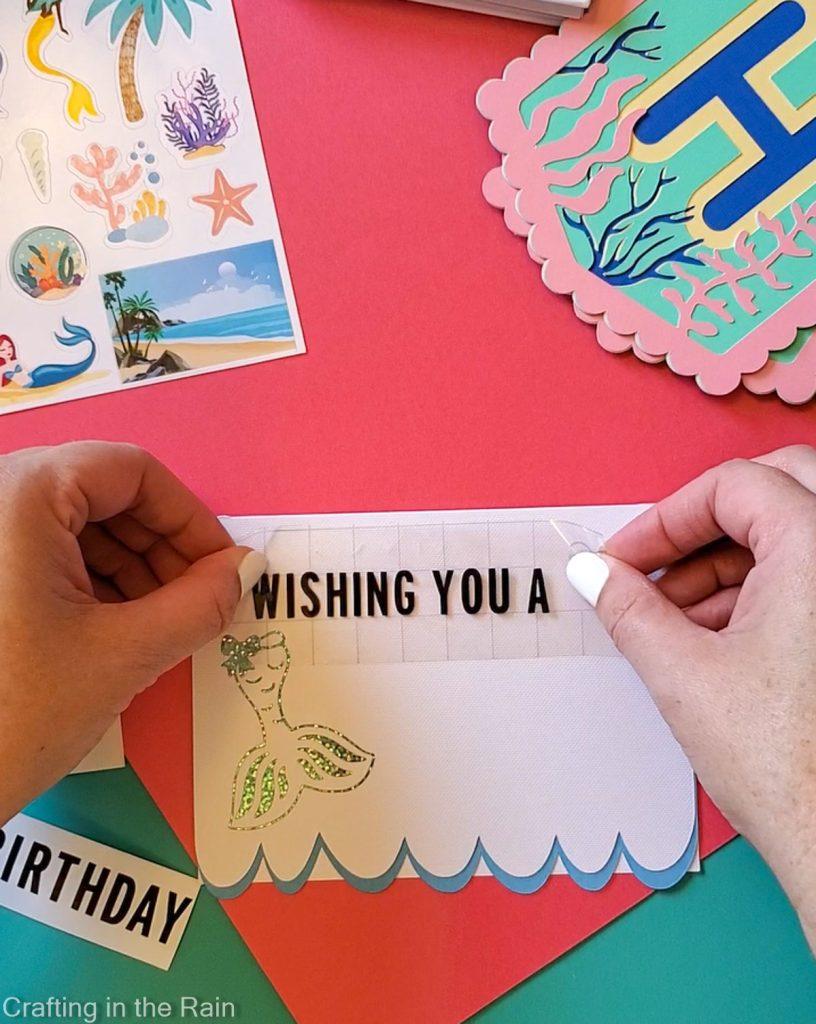 cricut mermaid card
