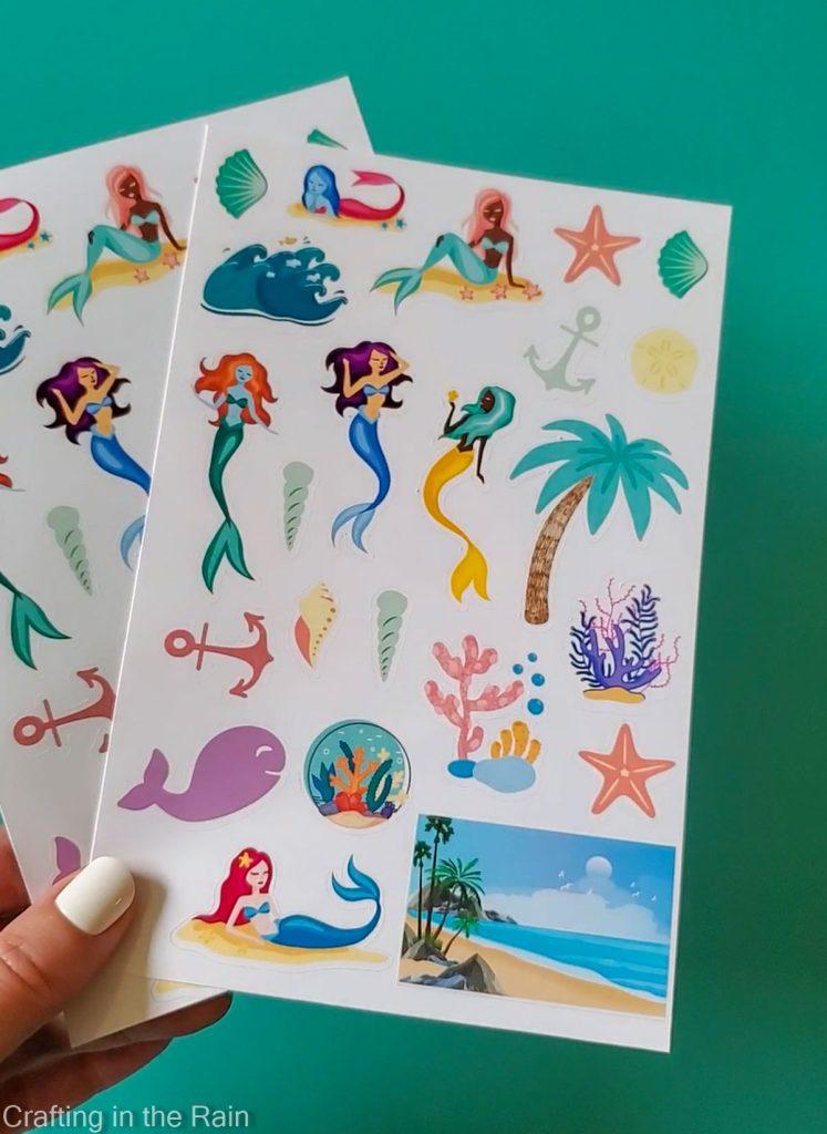 cricut mermaid stickers