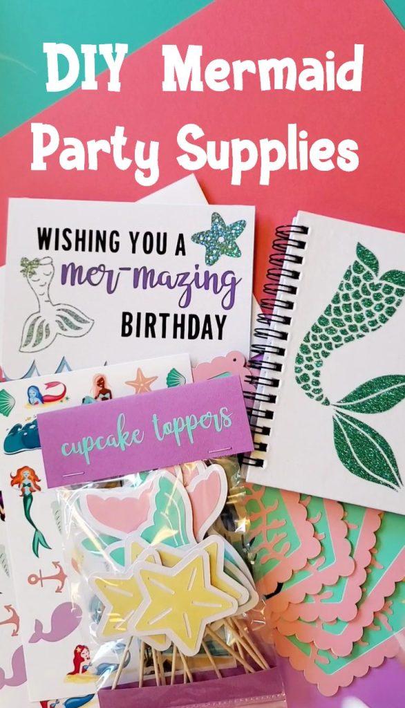 diy mermaid party supplies