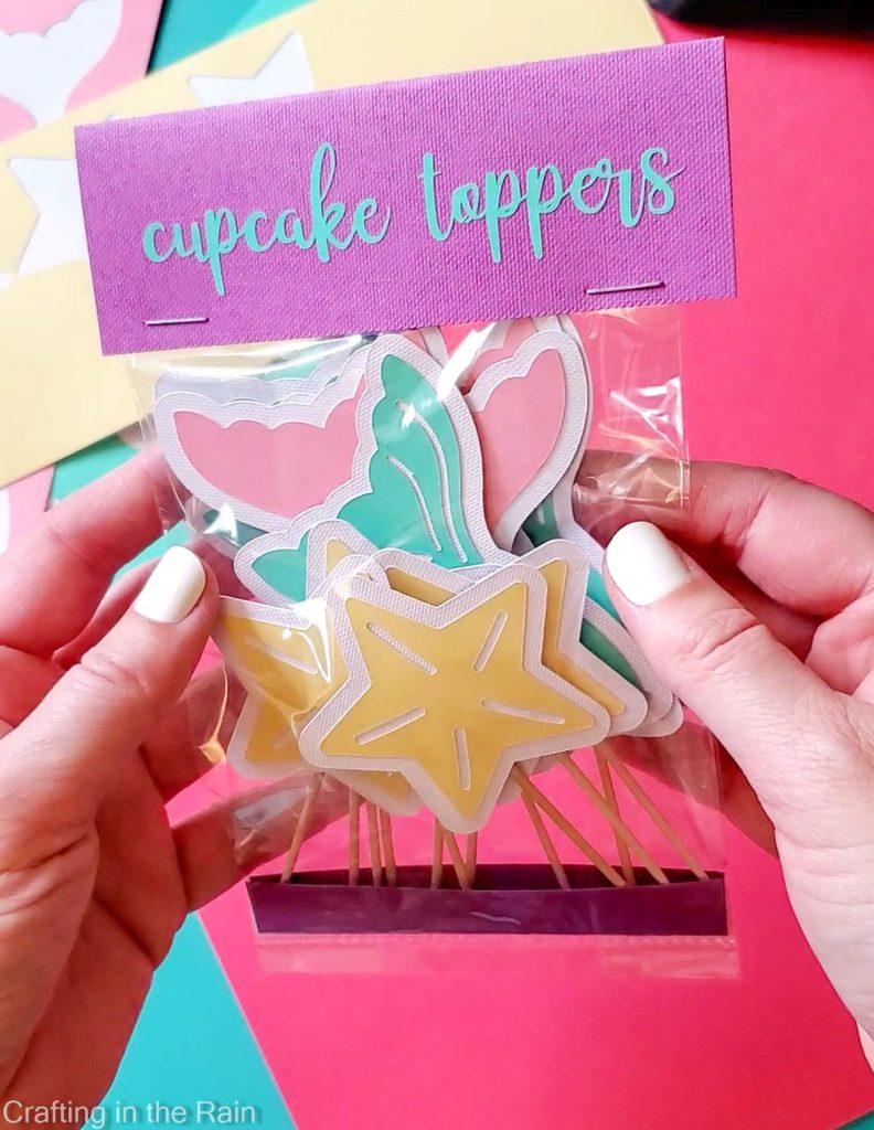 mermaid cupcake toppers cricut